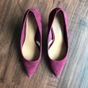 Merona Maroon/Burgundy Heels